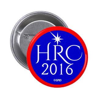 HRC, Hillary Rodham Clinton 2016 Democratic Party 6 Cm Round Badge