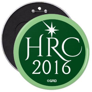 HRC, Hillary Rodham Clinton 2016 Green Party 6 Cm Round Badge