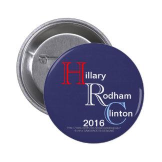 HRC Hillary Rodham Clinton 2016 Pinback Button