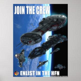 Hub Federation Navy Ad Poster