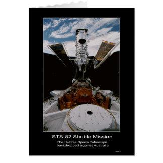 Hubble Space Telescope Above Australia Card