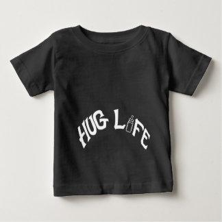 Hug Life - Baby Fine Jersey T-Shirt, White Baby T-Shirt
