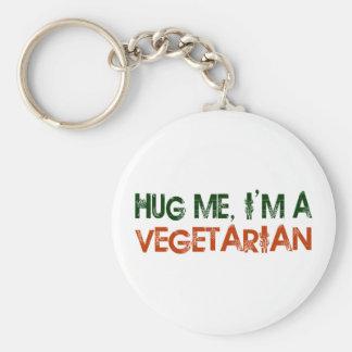 Hug Me I'M A Vegetarian Key Chain