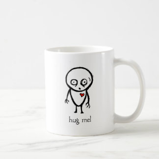 hug me classic white coffee mug