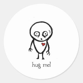 hug me round sticker
