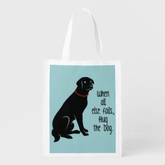 """""""Hug the Dog"""" Resusable Tote Bag"""