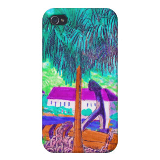 Huge Chain and Anchor on a Tropical Waterfront iPhone 4 Cover