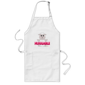 Huggable White Sheep Pink Huggable Aprons
