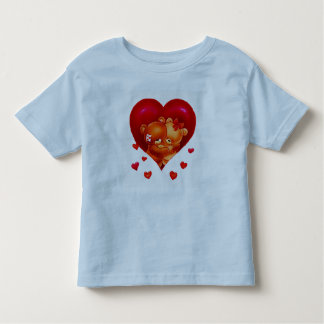 HUGGING BEARS AND HEARTS TODDLER T SHIRT