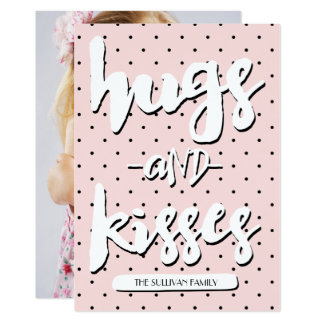Hugs & Kisses | Valentine's Day Photo Card 13 Cm X 18 Cm Invitation Card