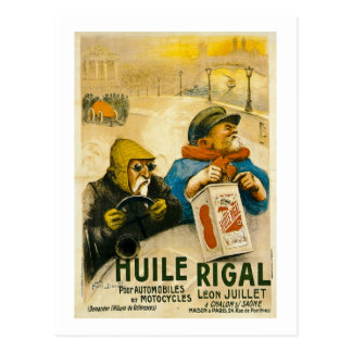Huile Rigal - Vintage French Auto Ad Postcard