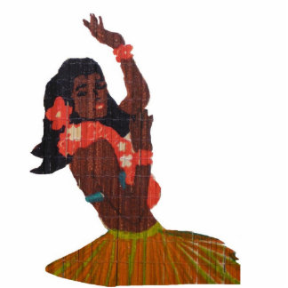 Hula Dancer Aloha Photo Sculpture