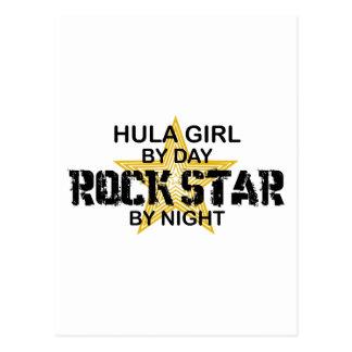 Hula Girl by Day, Rock Star by Night Postcard