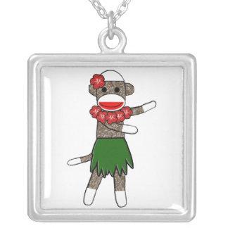 Hula Sock Monkey Necklace