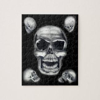 Human Skulls Black Puzzle