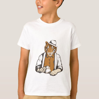 human tiger with playing cards T-Shirt