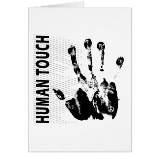 Human touch greeting card