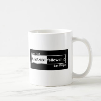 Humanist Fellowship Black and White Basic White Mug