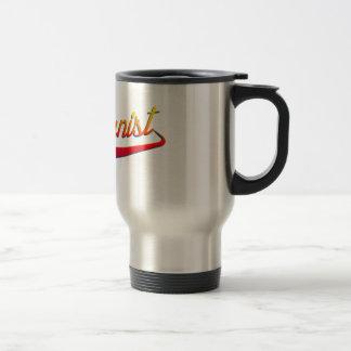 Humanist Orange Swash Stainless Steel Travel Mug
