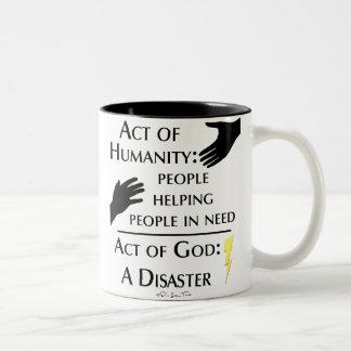 Humanity vs God Two-Tone Coffee Mug
