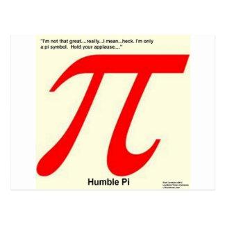 Humble Pi R Square Funny Postcard