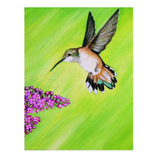 Hummingbird and Lilac Postcard