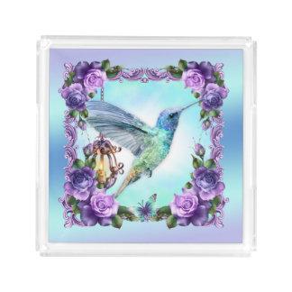 Hummingbird and rose Custom Small Perfume Tray