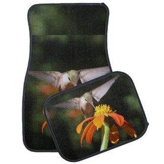 Hummingbird Bird Sunflower Flower Floral Garden Car Mat