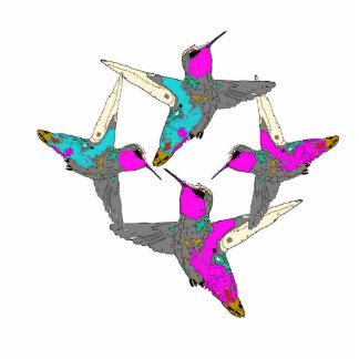 Hummingbird Bird Wildlife Animal Floral Photo Sculpture Decoration