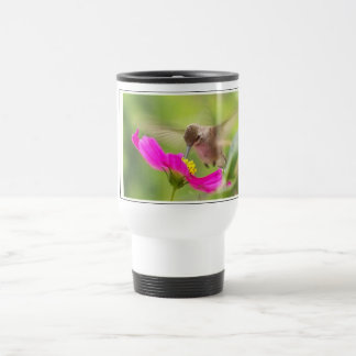 Hummingbird Bird Wildlife Animal Floral Stainless Steel Travel Mug