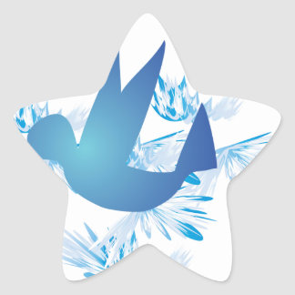 Hummingbird Blue Star Sticker