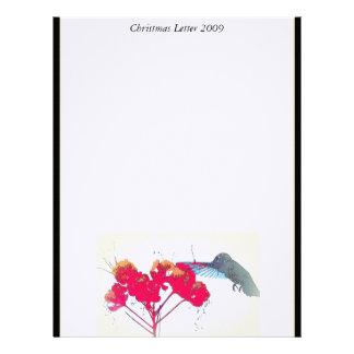 Hummingbird Christmas Letter 2009 Letterhead