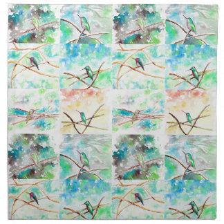 Hummingbird Collection Watercolor Napkin