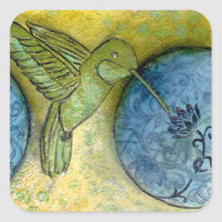 Hummingbird Dream Square Sticker