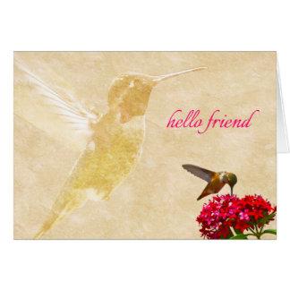 Hummingbird, hello friend - Greeting Card