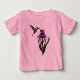 Hummingbird Iris Flower Shirt