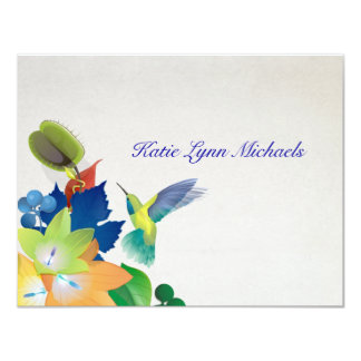 Hummingbird Personalized Notecard Personalized Announcements