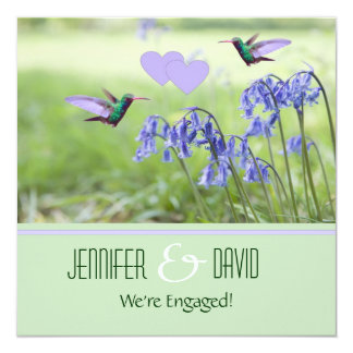 Hummingbirds Engagement Party Invitation