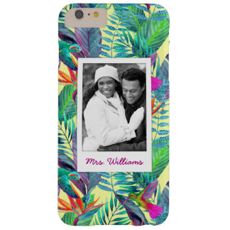 Hummingbirds In Jungle | Add Your Photo & Name Barely There iPhone 6 Plus Case
