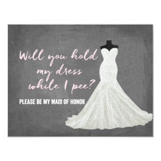 Humor Bride | Bridesmaid 11 Cm X 14 Cm Invitation Card