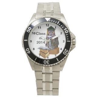 Humorous 2014 Graduation Owl Customizable Wrist Watches