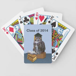 Humorous Class of 2014 Graduation Owl Deck Of Cards