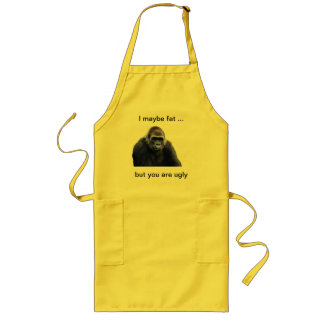 humorous gorilla products long apron