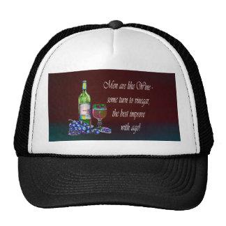 Humorous 'Men are like Wine' Modern Wine Art Gifts Trucker Hats