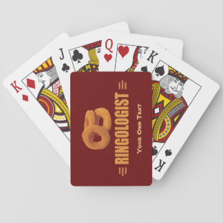 Humorous Onion Ring Title Playing Cards