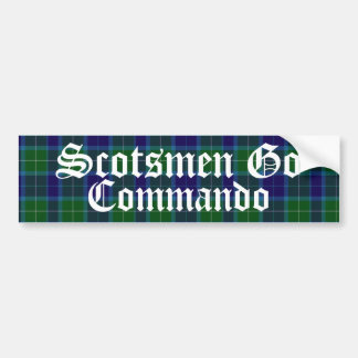 Humorous Scotsmen Tartan Plaid Bumper Sticker