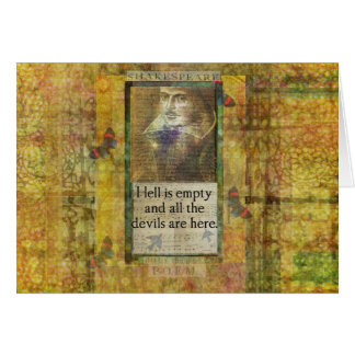 Humorous Shakespeare QUOTE art words Card