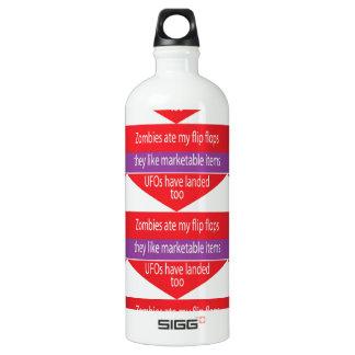 Humorous Text Design Water Bottle