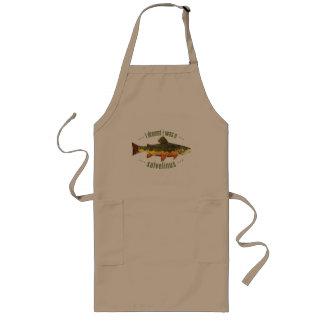 Humorous Trout Fishing Long Apron