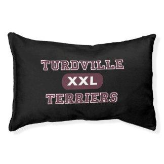 Humorous Turdville Terriers Pet Bed
